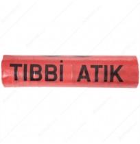 Tıbbi Atık Çöp Torbası 80cm x 110cm Kırmızı 10'lu Paket