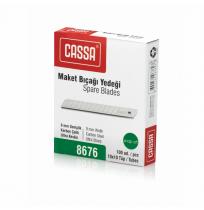Cassa 8676  Dar Maket Bıçağı Yedeği 9mm 1x10'lu Tüp