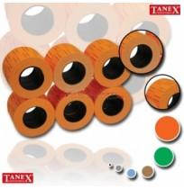 Tanex 12x21 mm Turuncu Floresan Fiyat Etiketi 12rulo x 800 Etiket