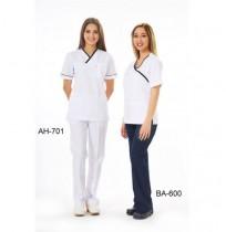 V Yaka Biyeli Hemşire Forması - Ürün Kodu : AH-701