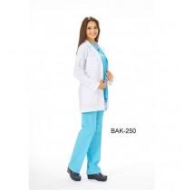 Bayan Tunik Boy Uzun Kol Klasik Yaka Önlük (ALPAKA)  Ürün Kodu: BAK-250