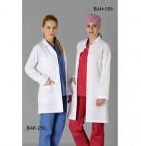 Bayan Fit Kesim Hakim Yaka Uzun Boy Önlük (ALPAKA)  Ürün Kodu: BAH-355